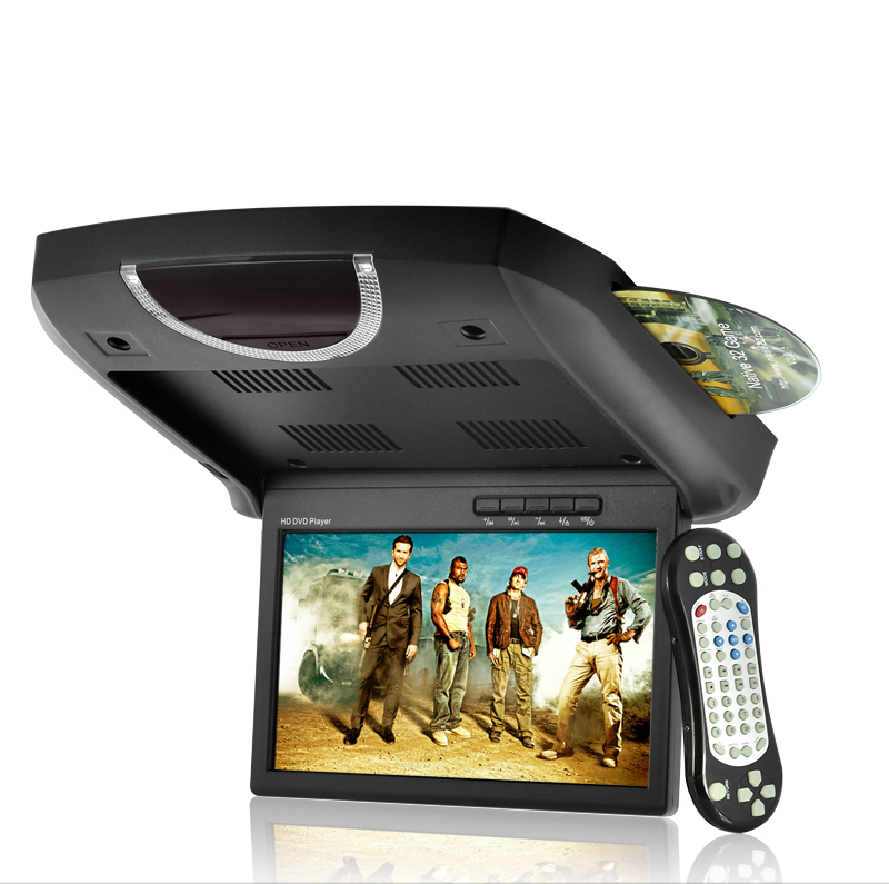 9 Inch Super Slim Roof-Mounted Car DVD with Games and Wireless Controller OA1783